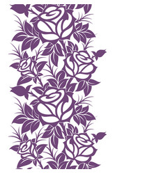 Decorative vertical floral border vector