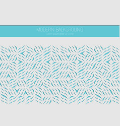 decorative white card for cutting abstract blue vector image