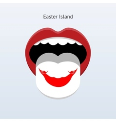 Easter Island language Abstract human tongue vector