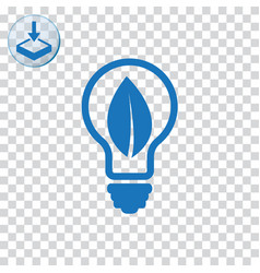 Ecology bulb icon for web and mobile vector