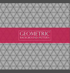 Editable abstract geometric pattern - repeated vector