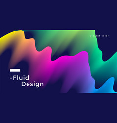 fluid wide poster vector image