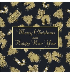 gold pattern christmas vector image