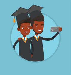 graduates making selfie vector image