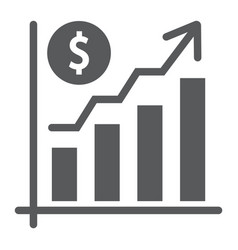 growth rate glyph icon finance and banking vector image