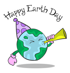 happy earth day cartoon design vector image
