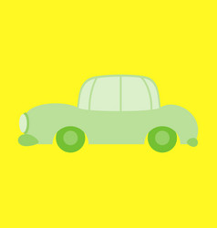 Icon in a flat style car vector