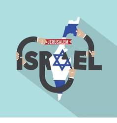 Israel Typography Design vector