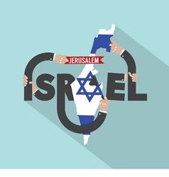 Israel Typography Design vector image