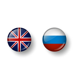 languages english and russian vector image