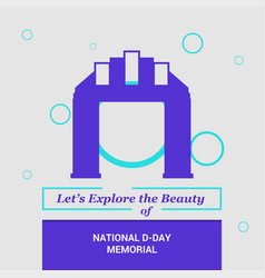 Lets explore the beauty of national d-day vector