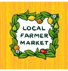 Local farmer market farm logo design vector image