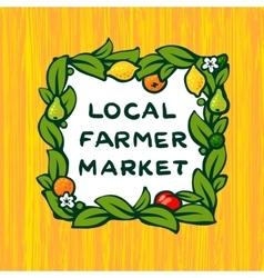 Local farmer market farm logo design vector