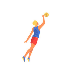 male volleyball player wearing sports uniform vector image