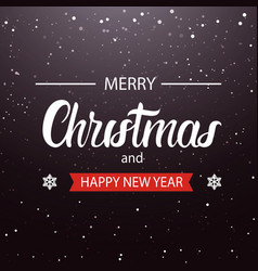 merry christmas and happy new year sign holiday vector image