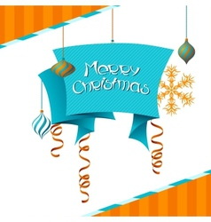Merry Christmas background in retro style vector image
