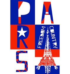 Paris City Modern T-shirt Typography Graphics vector