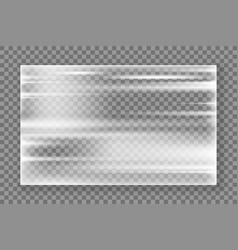 Plastic wrap texture realistic stretched plastic vector