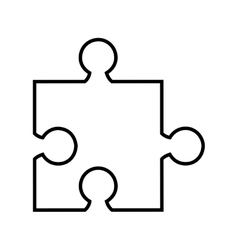 puzzle pieces isolated icon design vector image