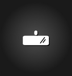 rearview mirror icon flat vector image