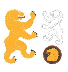 Roaring Heraldic Bear vector