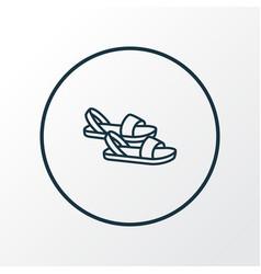 sandals icon line symbol premium quality isolated vector image