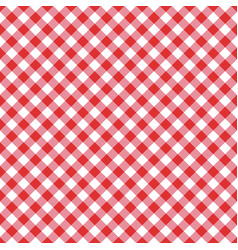 Seamless classic red table cloth texture vector