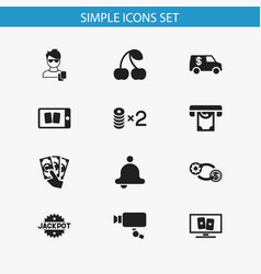 Set of 12 editable excitement icons includes vector
