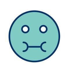 Sick emoji icon vector