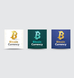 social media banners with a 3d crypto currency vector image