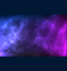 Space background with realistic nebula and shining vector