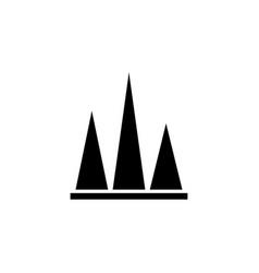 stock chart peak flat icon vector image