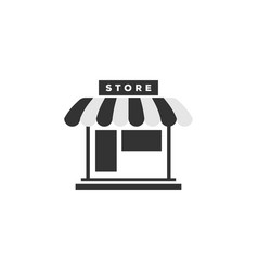 store front icon graphic design template vector image