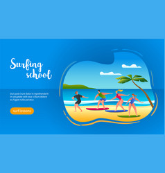 surfing school concept vector image