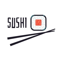 Sushi bar or restaurant logo template vector