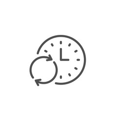 time line icon update clock sign vector image