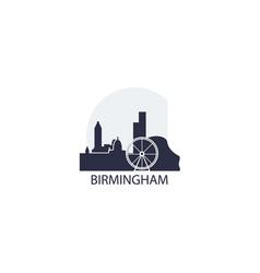 uk birmingham skyline vector image