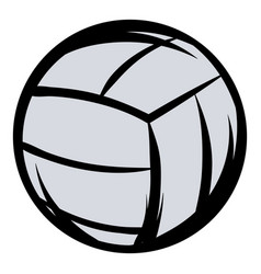 voleyball icon cartoon vector image