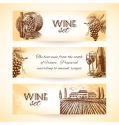 Wine banner set vector
