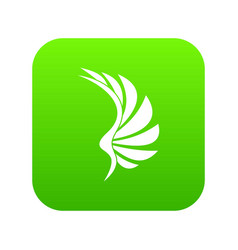 wing icon digital green vector image