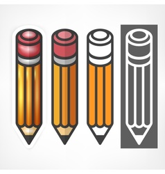 Wooden pencils stylized on vector image