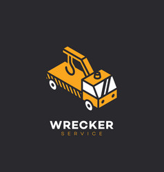 wrecker service logo vector image