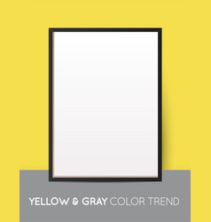 Yellow and gray trendy color vertical collage vector