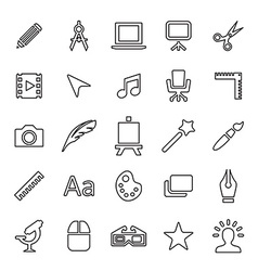 25 outline universal design icons vector image vector image