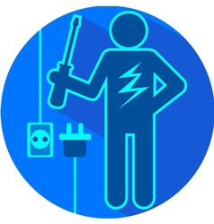 Electric blue vector image vector image