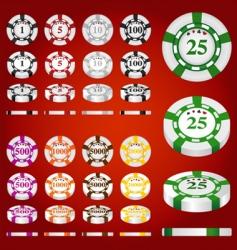 gambling chips set vector image
