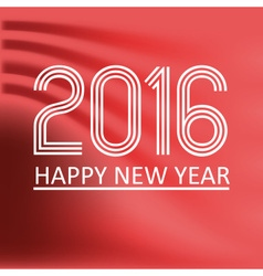 happy new year 2016 on red wave color background vector image vector image