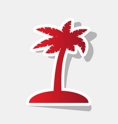 coconut palm tree sign new year reddish vector image