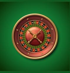 las vegas casino roulette wheel isolated vector image