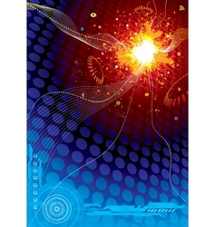 Blue Explosion vector image vector image
